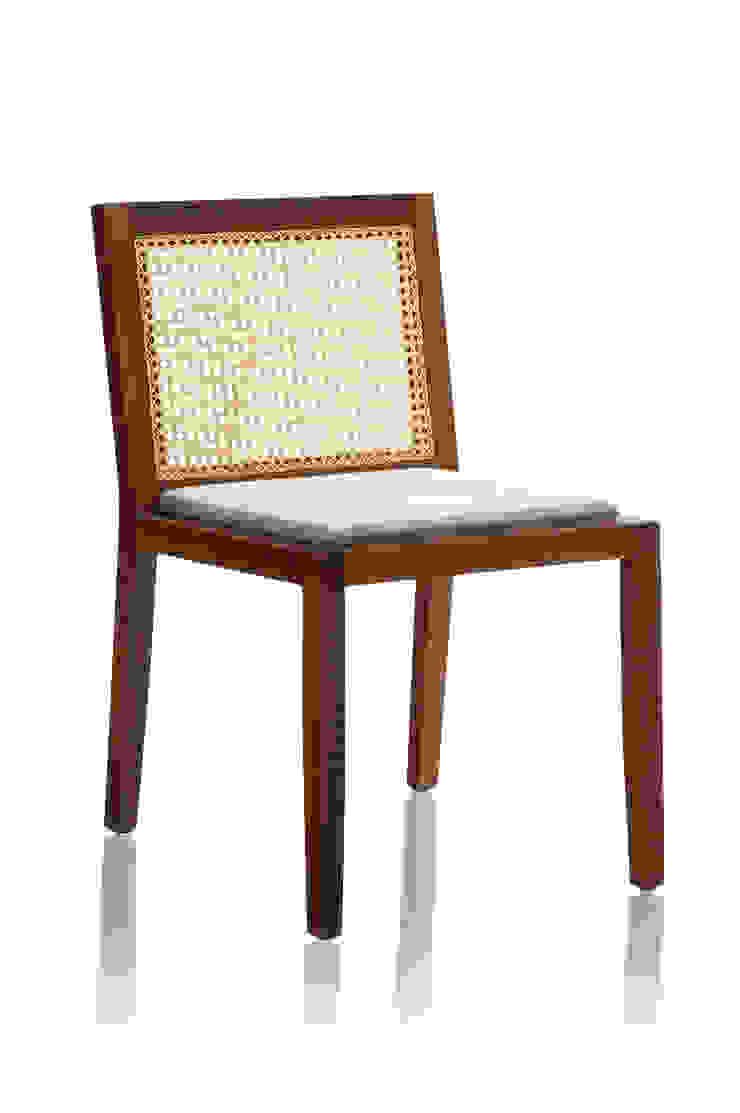 Cadeira PROP sem braço mista por LLUSSÁ Mobiliário de design Moderno Madeira maciça Multi colorido