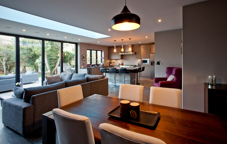 Teddington Kitchen Extension:  Dining room by A1 Lofts and Extensions, Modern