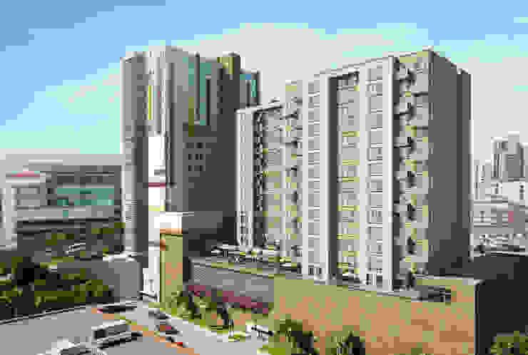 Fachada Torre apartamentos de MIES GROUP Moderno
