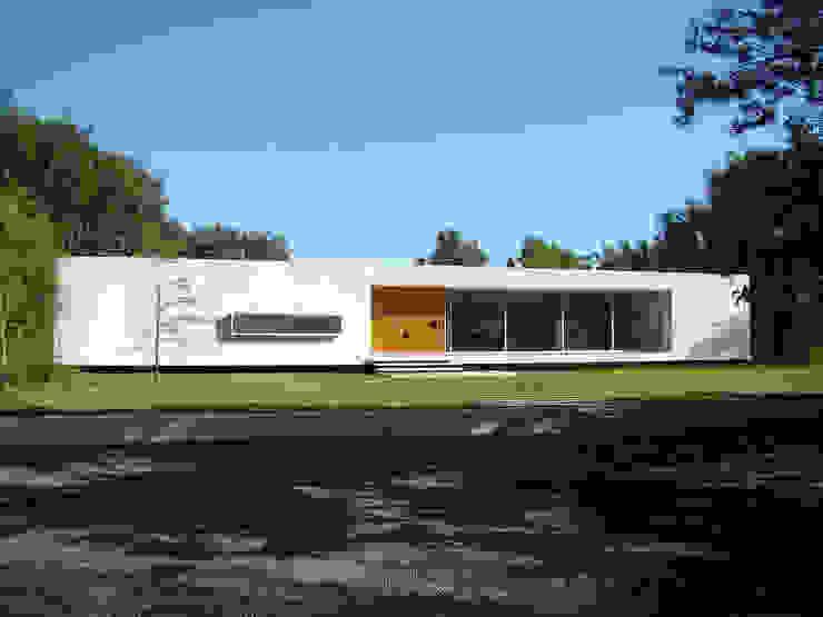 Rumah Modern Oleh MENEGHETTI ARQUITECTOS Modern