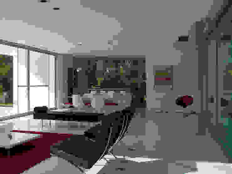 Salas de estar modernas por MENEGHETTI ARQUITECTOS Moderno