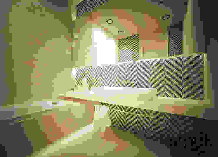 Łazienka Nowoczesna łazienka od SMUK Nowoczesny