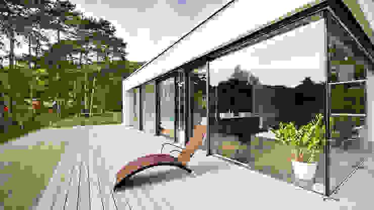 Moderne balkons, veranda's en terrassen van WUNSCHHAUS Modern