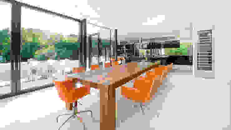 Einfamilienhaus in Hinterbrühl bei Wien Moderne Küchen von WUNSCHHAUS Modern