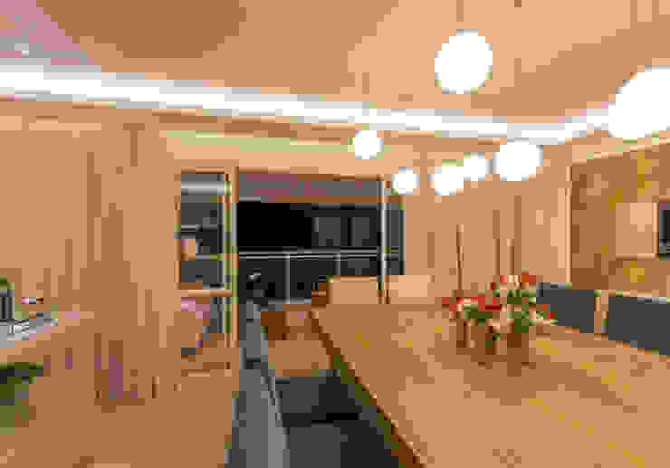 Enzo Sobocinski Arquitetura & Interiores Modern dining room Wood Wood effect