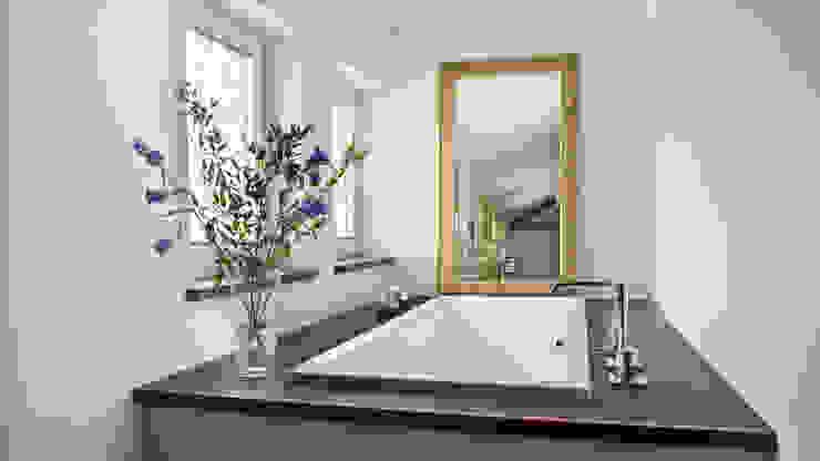 Einfamilienhaus in Perchtoldsdorf bei Wien Mediterrane Badezimmer von WUNSCHHAUS Mediterran