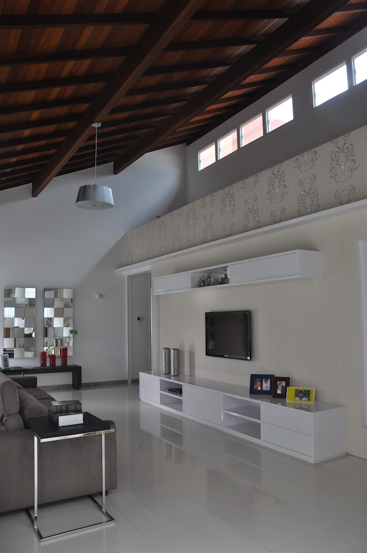 Libório Gândara Ateliê de Arquitetura Modern media room