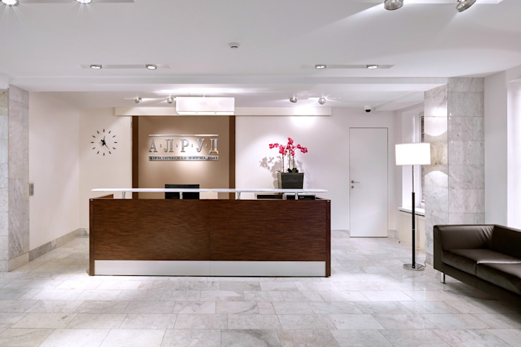 """офис """"АЛРУД"""" Офисные помещения в стиле модерн от ANIMA Модерн"""