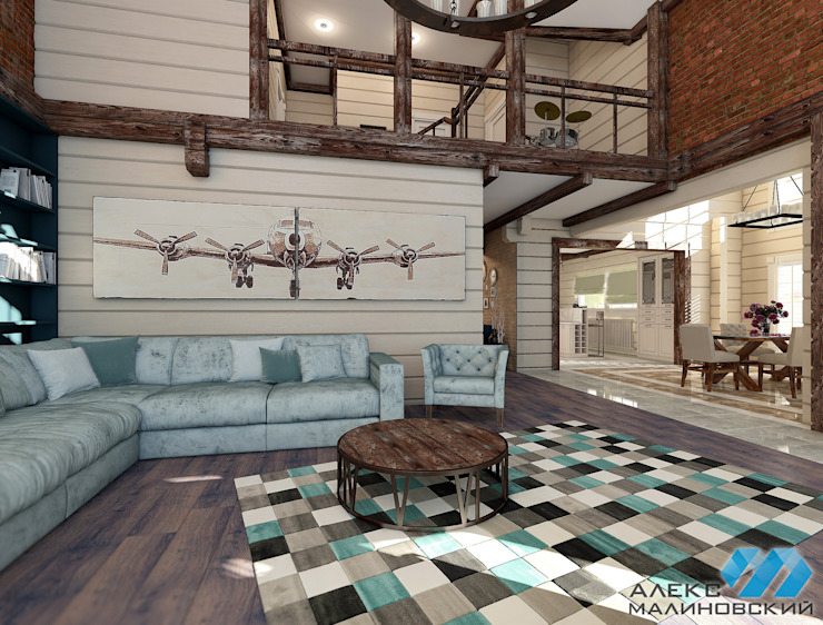 Industrial style living room by Александр Малиновский Industrial
