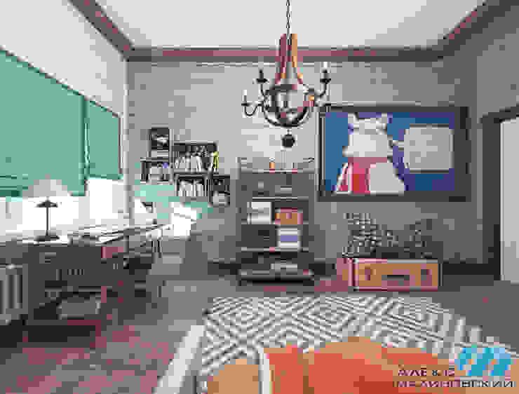 Детская мальчика, вариант 2, вид 2 Детская комната в стиле лофт от Александр Малиновский Лофт