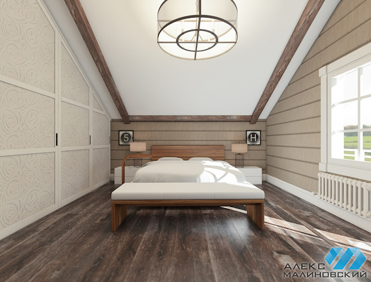 Industrial style bedroom by Александр Малиновский Industrial