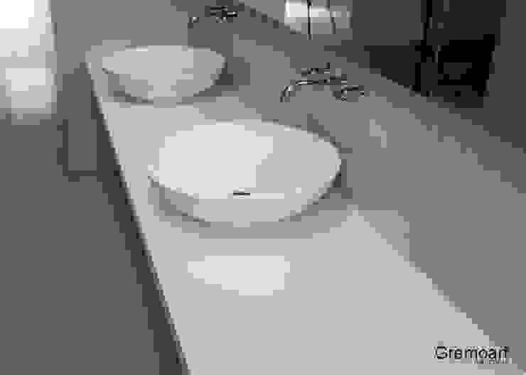 Umywalka nablatowa okrągłą od Gremo art Nowoczesny
