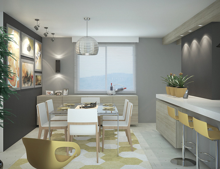 Apartamento #101 Salas de jantar modernas por studio vtx Moderno