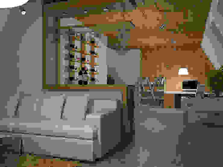 Cave à vin minimaliste par Tatiana Zaitseva Design Studio Minimaliste