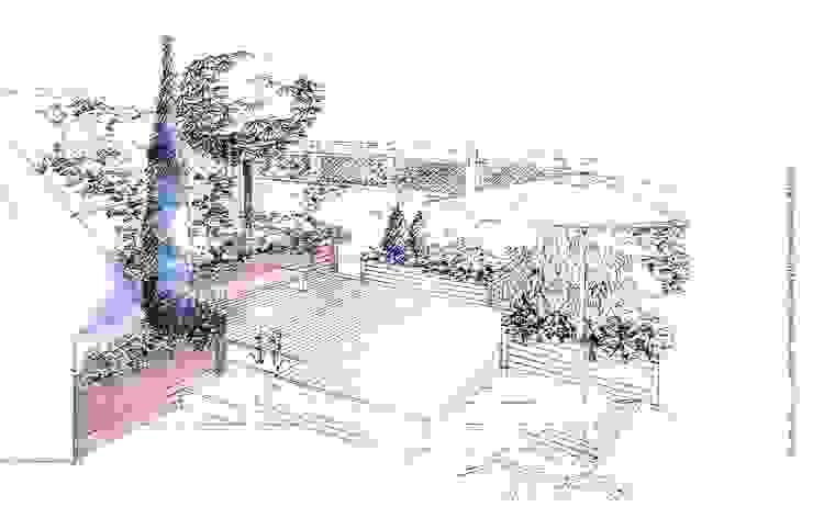 Terraza Madrid de GreenerLand. Arquitectura Paisajista y Tematización Moderno