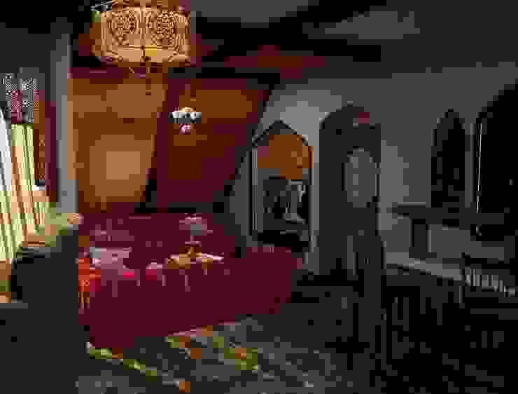 Мансарда Медиа комната в азиатском стиле от DONJON Азиатский