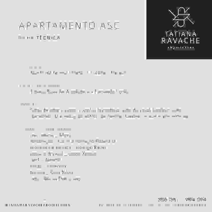 Ficha técnica Casas modernas por Tatiana Ravache Arquitetura Moderno MDF
