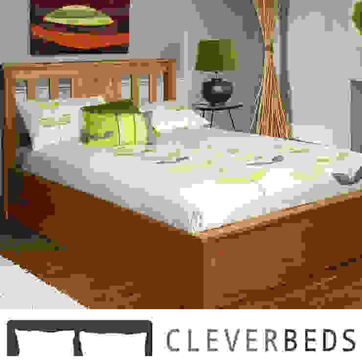 Terran Oak Ottoman Bed von Cleverbeds Ltd Klassisch