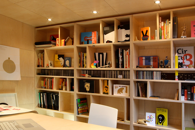 Modern Study Room and Home Office by ecospace españa Modern Wood Wood effect