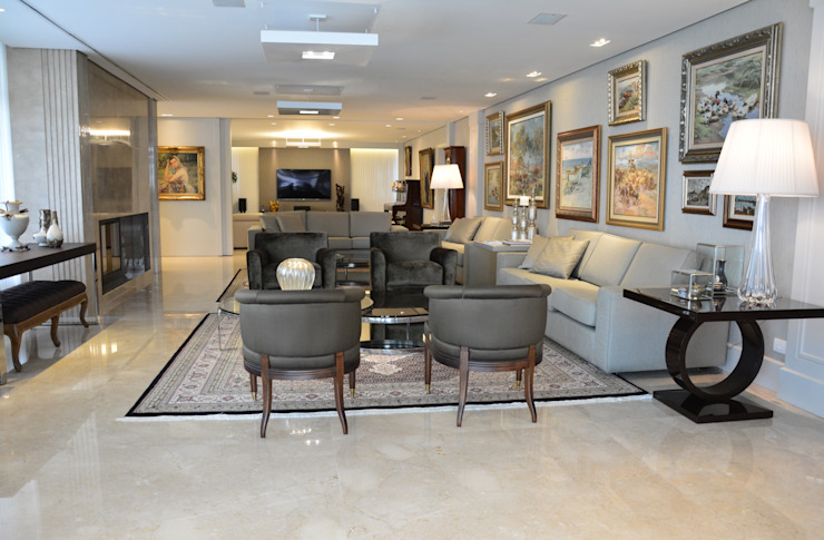 Living Salas de estar clássicas por Yara Mendes Arquitetura e Decoração Clássico