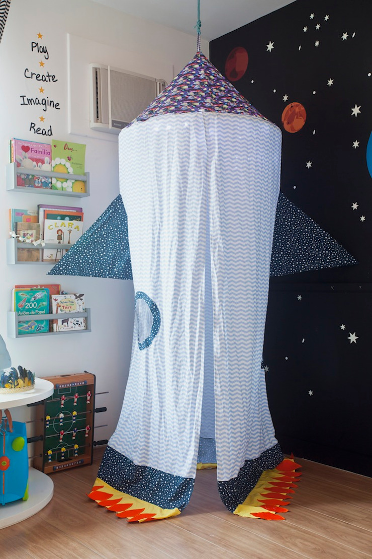 Brinquedoteca Espacial Quarto infantil moderno por Nina Moraes Design Infantil Moderno