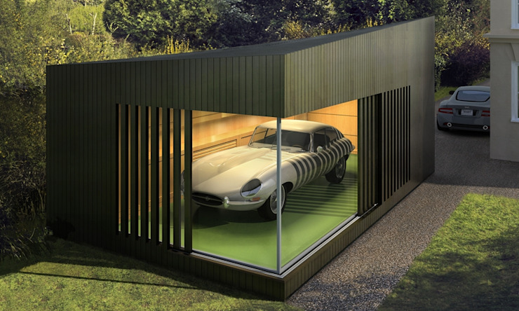 Prefabricated Garage by ecospace españa, Modern لکڑی Wood effect