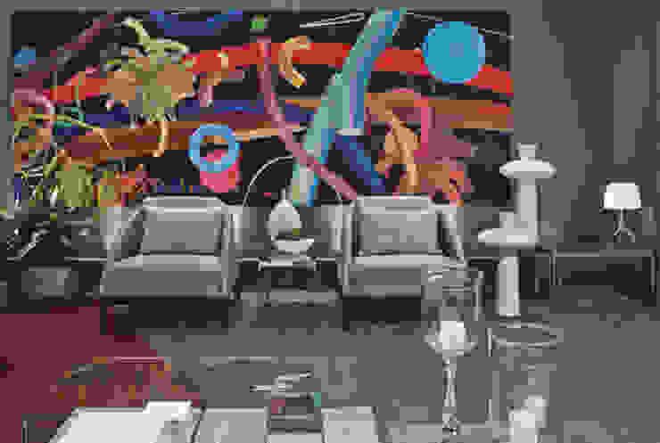 Morar com Arte Salas de estar modernas por Yara Mendes Arquitetura e Decoração Moderno