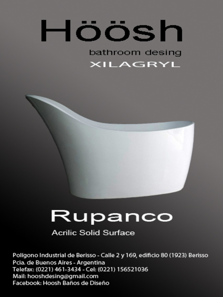 Bañera de Diseño modelo Rupanco de Hoosh Moderno Mármol