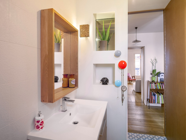 Ванная комната в скандинавском стиле от BKBS Скандинавский