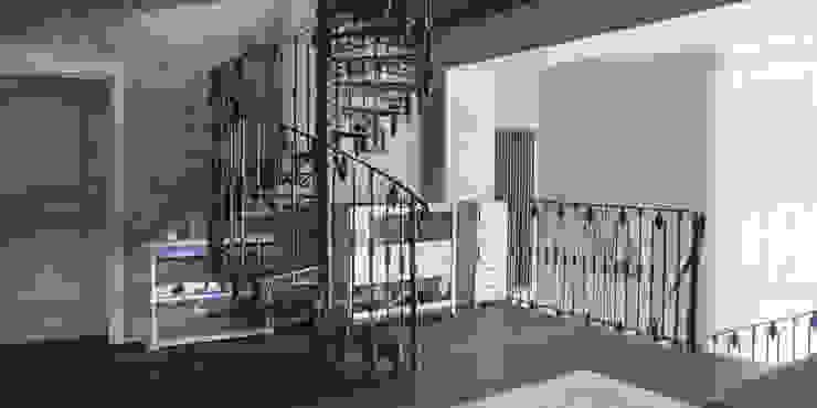 Холл 2-го этажа Коридор, прихожая и лестница в стиле кантри от homify Кантри