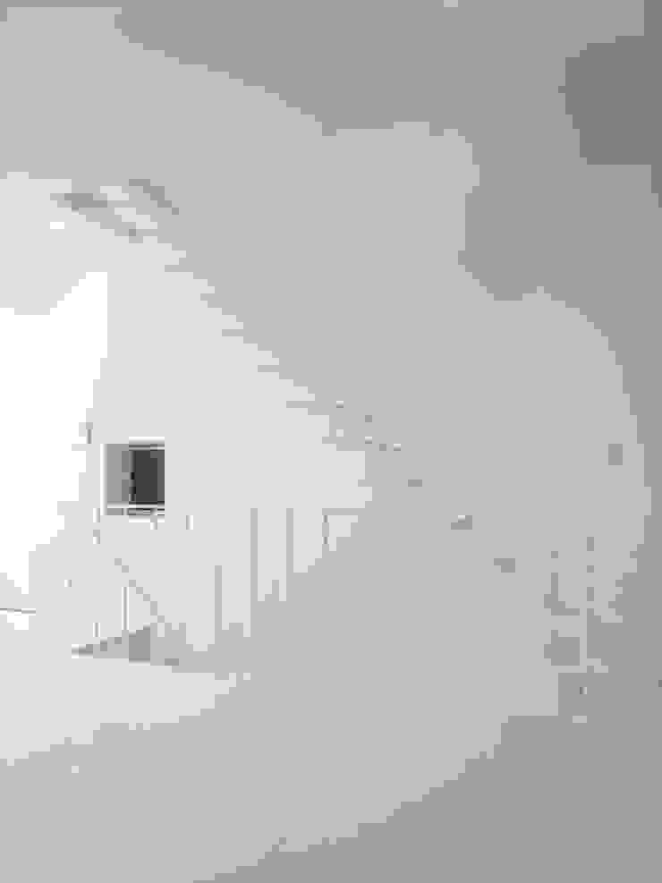House in Fukushima モダンスタイルの 玄関&廊下&階段 の Mimasis Design/ミメイシス デザイン モダン