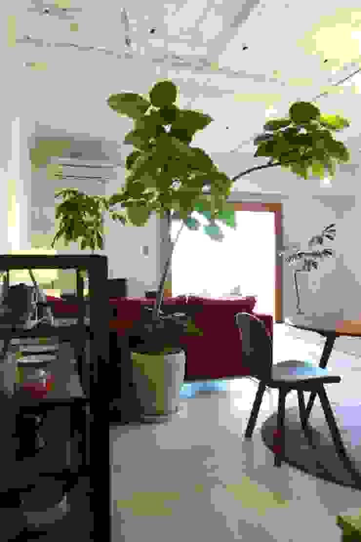Apartment in Amizima モダンデザインの リビング の Mimasis Design/ミメイシス デザイン モダン