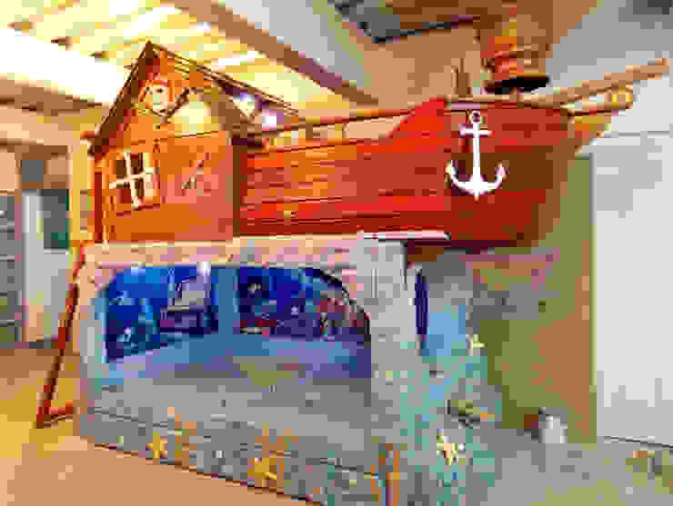 IMPACTANTE LITERA ESTILO BARCO ENCALLADO de Kids Wolrd- Recamaras Literas y Muebles para niños Clásico Derivados de madera Transparente