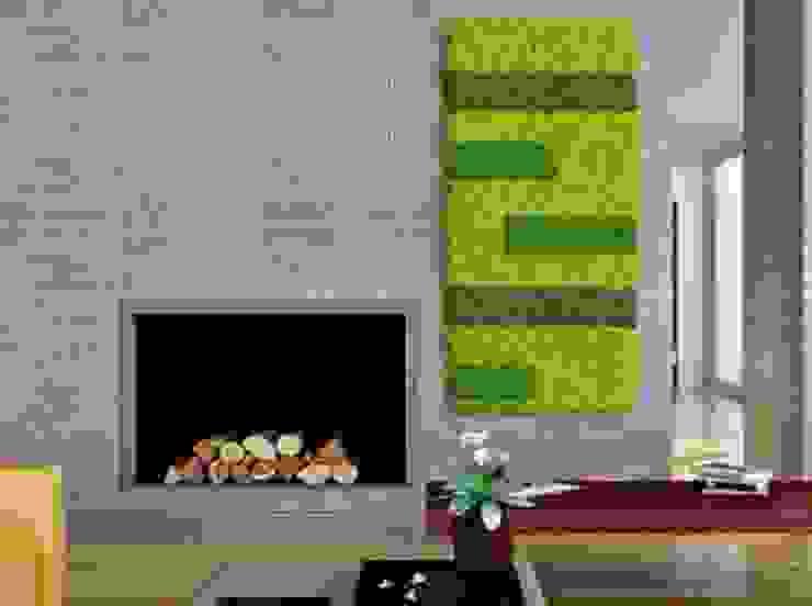 Zielone ściany z mchu Moss Trend® Nowoczesny salon od BandIt Design Nowoczesny