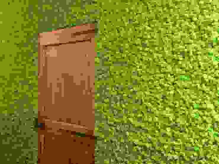 Zielone ściany z mchu Moss Trend® Nowoczesny korytarz, przedpokój i schody od BandIt Design Nowoczesny