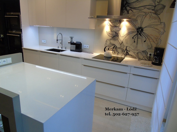Merkam - Łódź ul. Św. Jerzego 9 KitchenBench tops Quartz White