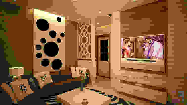 Residence of Mr. Kale Modern living room by 6F Design Studio Modern Plywood
