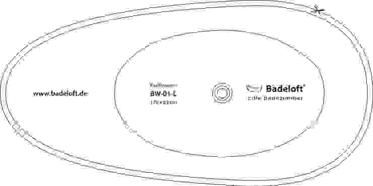 Schablone:   von Badeloft GmbH - Hersteller von Badewannen und Waschbecken in Berlin