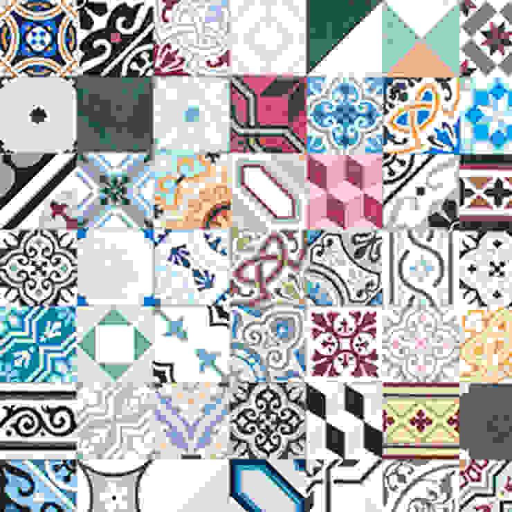 Mosaic del Sur Paredes y pisos de estilo moderno