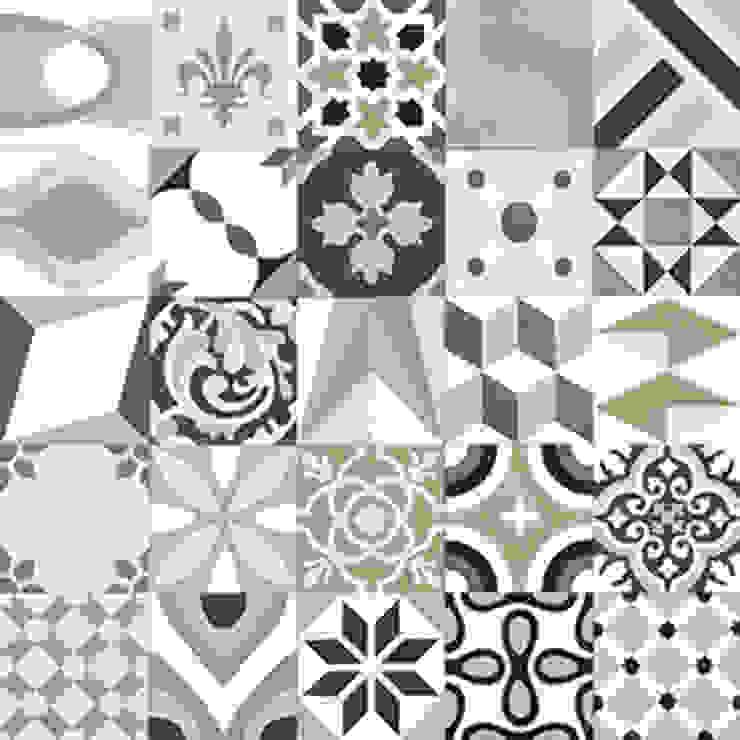 Mosaic del Sur Paredes y suelos de estilo moderno
