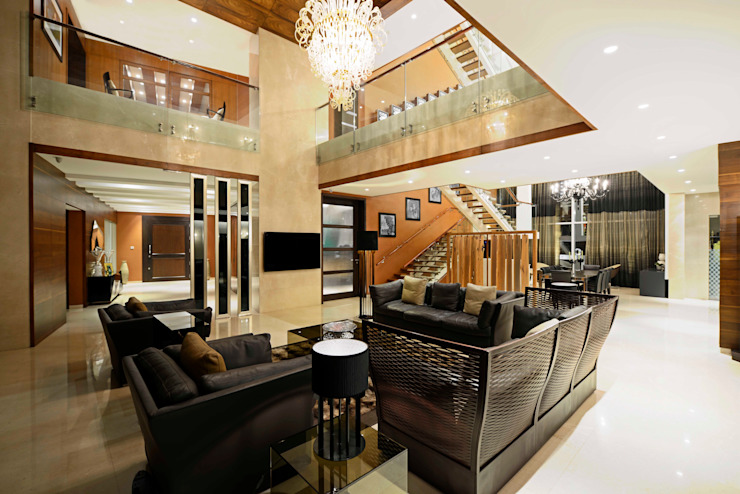 Peacock and the Woods Modern living room by Aijaz Hakim Architect [AHA] Modern