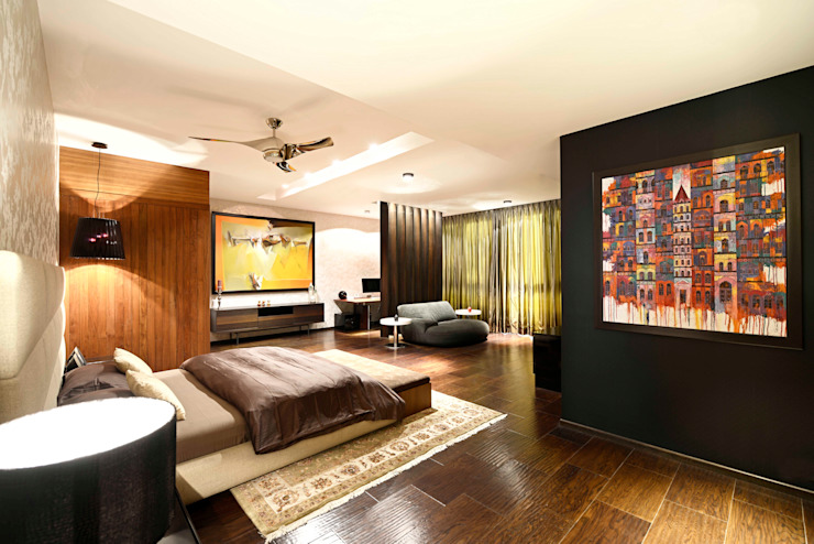 Peacock and the Woods Modern style bedroom by Aijaz Hakim Architect [AHA] Modern