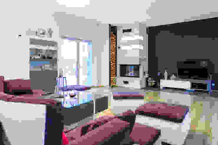 mieszkanie- Połczyn Zdrój Nowoczesny salon od Kameleon - Kreatywne Studio Projektowania Wnętrz Nowoczesny