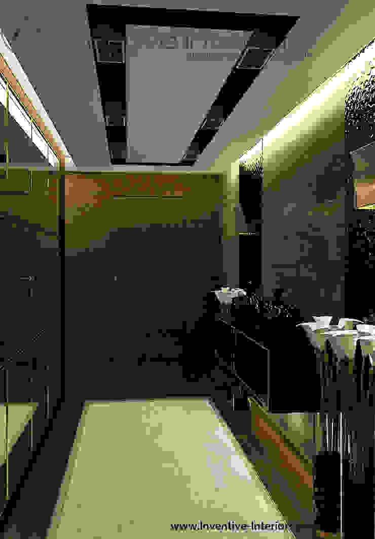 Kamień i drewno w korytarzu Klasyczny korytarz, przedpokój i schody od Inventive Interiors Klasyczny Drewno O efekcie drewna
