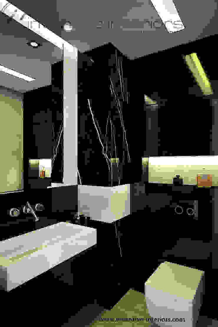 Mała łazienka przy sypialni Klasyczna łazienka od Inventive Interiors Klasyczny Marmur