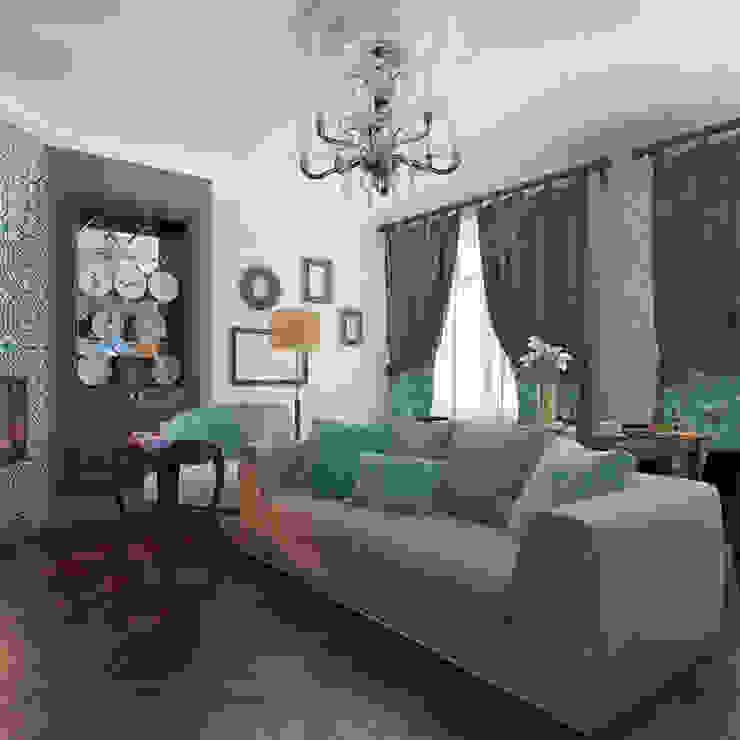 Livings de estilo  por Design interior OLGA MUDRYAKOVA