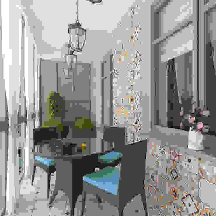 трехкомнатная квартира ул. Кирочная Терраса в средиземноморском стиле от Design interior OLGA MUDRYAKOVA Средиземноморский