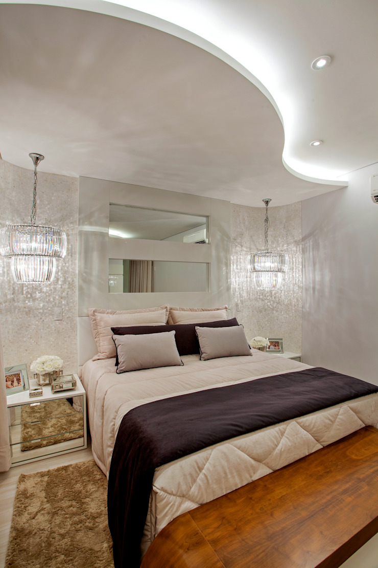 Arquiteto Aquiles Nícolas Kílaris Dormitorios de estilo moderno Beige