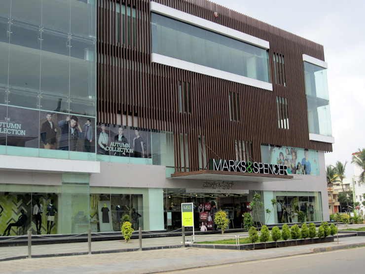 Commercial Complex at Koramangala, Bangalore Modern offices & stores by Parikshit Dalal Design + Architecture Modern