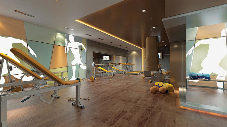 Interior Designs Modern Fitness Odası CCT INVESTMENTS Modern